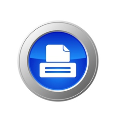 Printer button vector