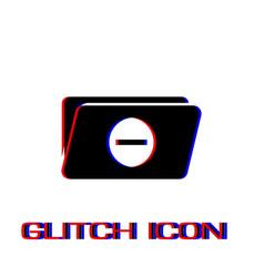 Remove folder icon flat vector