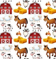 Seamless farm vector image