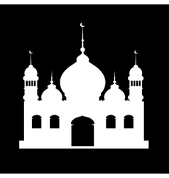 Silhouette of mosque vector