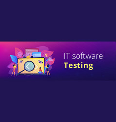 software testing it header or footer banner vector image
