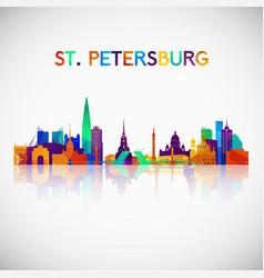St petersburg skyline silhouette vector