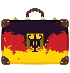 Suitcase with a German flag vector