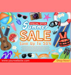 summer sale special offer deal promotion poster vector image