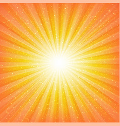 sunburst background with stars vector image