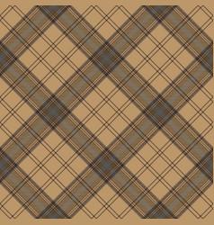 Tartan brown beige seamless fabric texture vector
