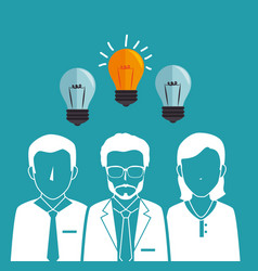Teamwork people company icon vector