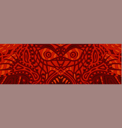 Terrible red pattern with ugly demons face vector