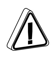 triangle caution signal icon vector image