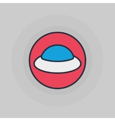UFO flat icon vector image