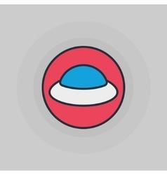 Ufo flat icon vector