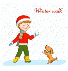 Winter walk vector image