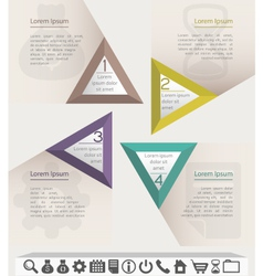 Business infographic chart template with set of vector image