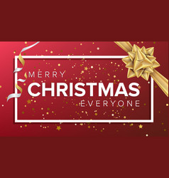 merry christmas card christmas greeting vector image