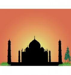 silhouette Taj Mahal vector image vector image