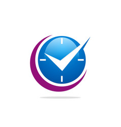time abstract clock business logo vector image
