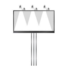 white blank billboard mockup realistic style vector image vector image