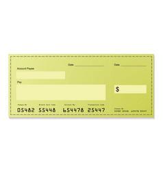 dollar cheque vector image