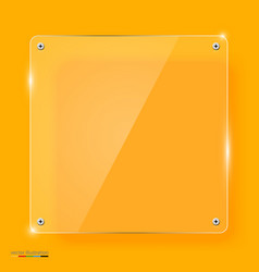 empty transparent glass framework vector image