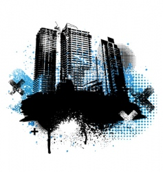 grunge city design vector image vector image