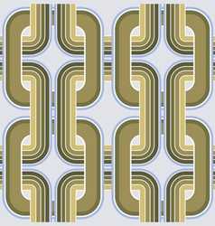 rectangle geometry ornate pattern vector image vector image