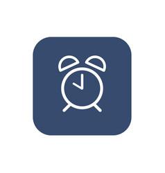 alarm clock icon flat design vector image vector image