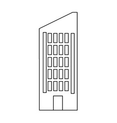 building business hotel urban real estate vector image vector image
