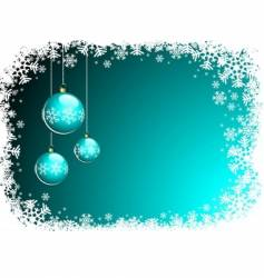 christmas illustration with blue glass vector image vector image