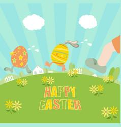 ester eggs running vector image
