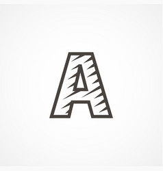 letter a logo icon design template elements vector image vector image