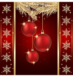 Luxury christmas background vector image vector image