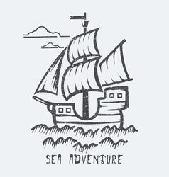 Sea adventure vector image