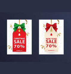 two christmas discount coupons vector image