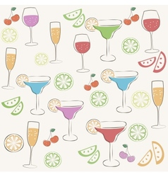 Cocktail party pattern vector image vector image