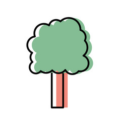 ecology tree to environment care icon vector image vector image