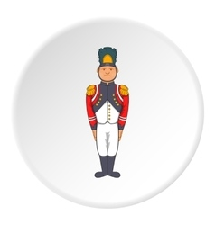 French soldiers in uniform icon cartoon style vector image
