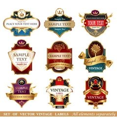 Labels vector image