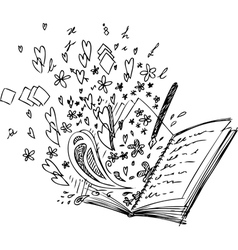 Love book vector
