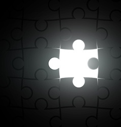 missing piece of the puzzle vector image vector image