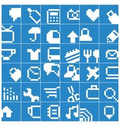 Modern social media button interface vector image vector image