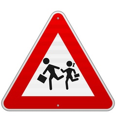 Pedestrian Danger Sign vector image vector image