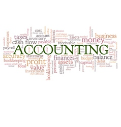 Accounting Word Cloud Word Bubble tags vector