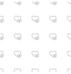 Add favorite icon pattern seamless white vector