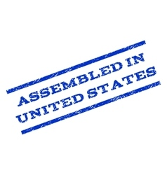 Assembled In United States Watermark Stamp vector