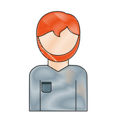 avatar plumber man icon vector image
