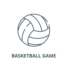basketball game line icon linear concept vector image