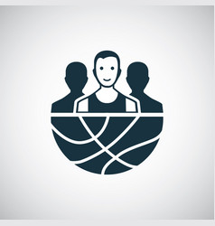 basketball team icon for web and ui on white vector image