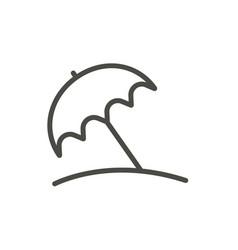 beach umbrella icon line sun pritection sy vector image