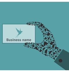 Bird a hand vector image