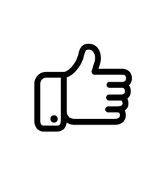 Black thumbs icon vector